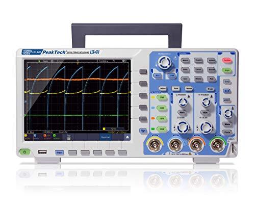 """PeakTech P 1341 4-Kanal Speicher-Oszilloskop 100 MHz - Max. 1 GS/s mit USB, LAN Schnittstelle & 8"""" Hochauflösendes TFT Farbdisplay, Speichertiefe 40 Mio. Punkte, FFT- & XY- Modus, DSO, 18 W, 240 V"""