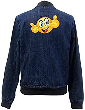 Smiley One Bomber Chaqueta Girls Jeans Certified Freak