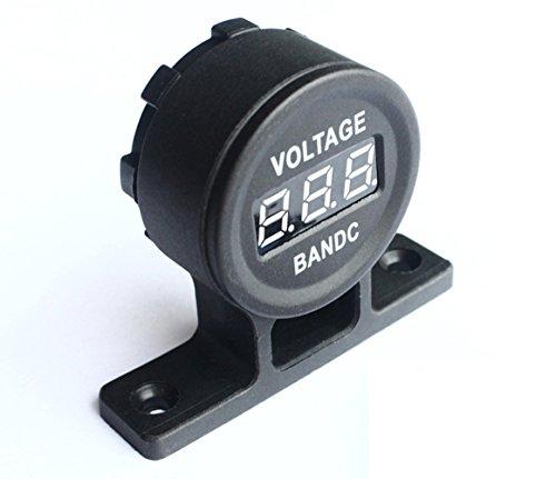 NAttnJf Voltmetro a LED per misuratore di Tensione Digitale da Pannello Universale per Auto Impermeabile 6-30V Orange