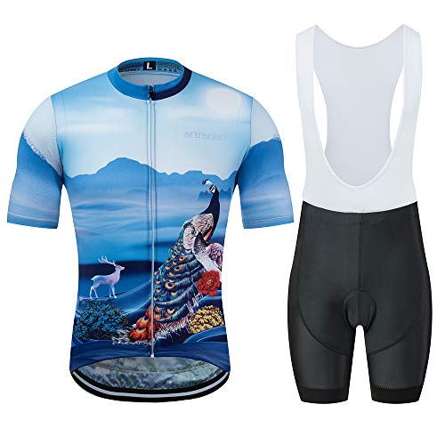Maillot Anzug (YDJGY Radtrikot 2019 Herren Sommer Kurzarm Set Maillot TräGerhose Sportswear Shirt Kleidung Anzug)