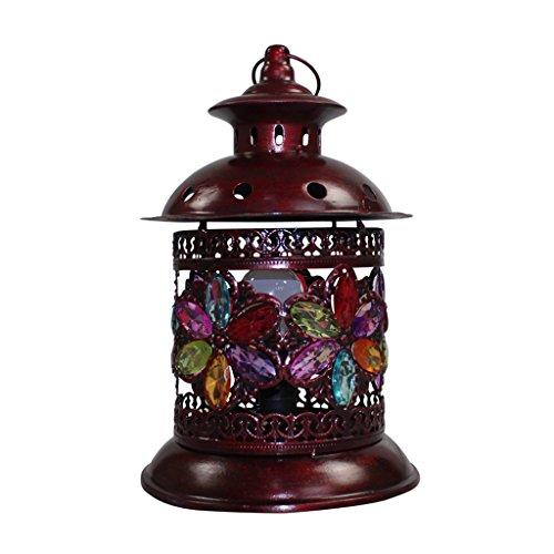 Retro dekorative eisen kunst tischlampe, farbe plexiglas intarsien schreibtischlampe E14 dimmer nachttischlampe geburtstagsgeschenk -
