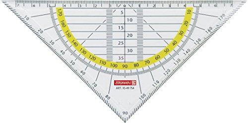 Brunnen 1049754 Geometrie-Dreieck / Geodreieck (für Schule und Büro 16 cm, glasklar)