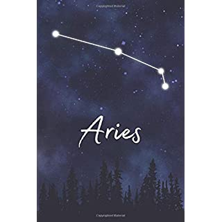 Aries: A Lined Notebook Zodiac Journal with Watercolor Constellation Galaxy and Fun Details About Your Sun Sign (Indigo Astrology Gift Books)