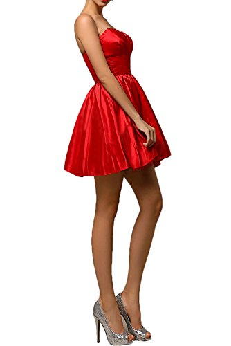 Gorgeous Bride Modisch Tanzkleider Herzform A-Linie Mini Taft Abendkleider  Kurz Cocktailkleider Ballkleider Orange ...