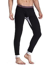 hibote pantalones térmicos para hombre, para hombre Calzoncillos largos, para hombre caliente de la ropa interior térmica Long John conveniente para el invierno, trabajo al aire libre