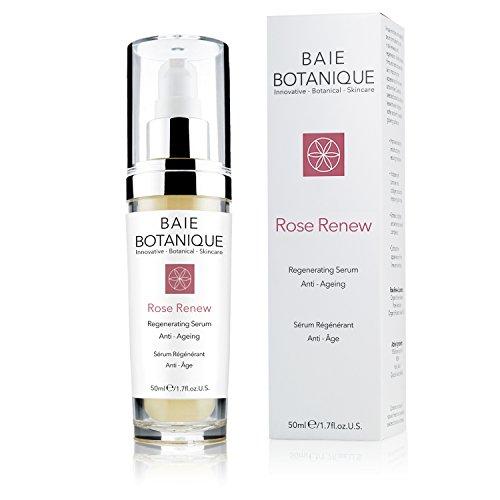 Baie Botanique ∙ Rosenwasser Serum, Anti-Aging Gesichtsserum mit 15% pflanzlicher Hyaluronsäure - Rose Absolue, Hagebuttenkernöl, Glykolsäure. 98% natürlich, 80% biologisch.