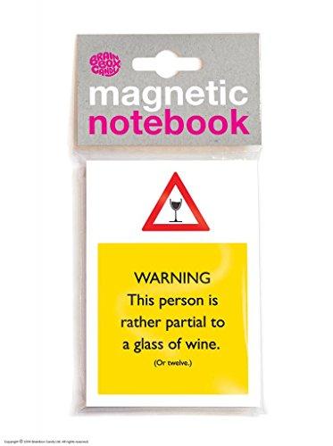 Funny Humorvolle 'Partial To Wine' Neuheit magnetisch Notebook (Humorvoll Kühlschrank-magnete)