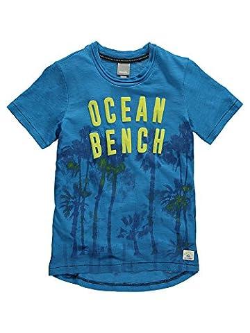 Bench Jungen T-Shirt Palm Ocean Tee Blau (Mid Blue BL164), 152 (Herstellergröße: 11-12)