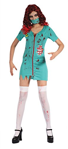 Bristol Novelty af035Zombie Chirurg Lady, UK Größe (Scrubs Chirurgen Kostüm)