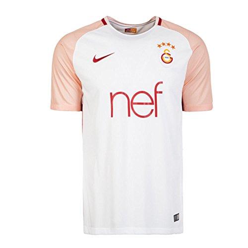 Nike galatasaray istanbul - maglia da trasferta stadium 2017/2021, per bambini, taglia xl, 158/170 cm, colore: bianco/arancione