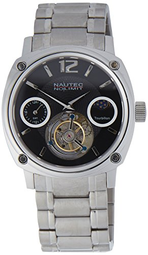 Nautec No Limit Men's Victory Tourbillon Watch Analogue Hand Winding Stainless Steel TB VC DDN Ststst cm black