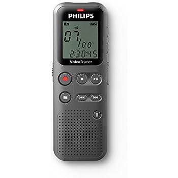 Philips DVT1110/00 Dictaphones Connexion PC, Type de Stockage: Mémoire Interne, Activation Vocale
