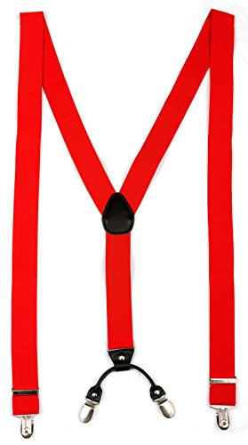 Hosenträger für Herren | Lang | Größe verstellbar bis 125 cm | Extra starke Clips | Y-Form | Echte Leder-Applikationen | Cool & Elegant | In 5 Farben