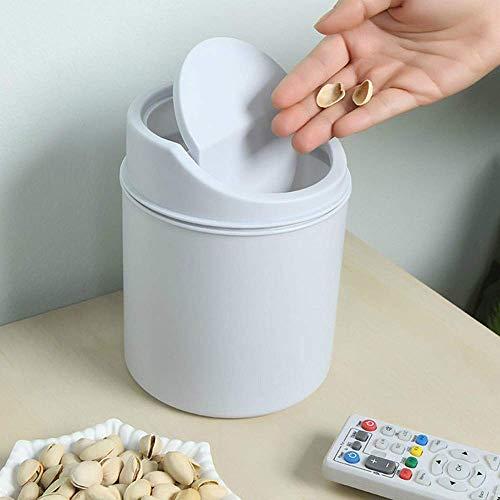 Faux Leder Medium Tote Tasche (Bobopai Mini Creative Convenient Desktops Covered Kitchen Living Room Trash Can (White))