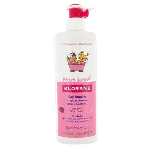 Klorane - Gel de Ducha Cuerpo y Cabello Frambuesa Petit Junior Klorane 500 ml 36m+