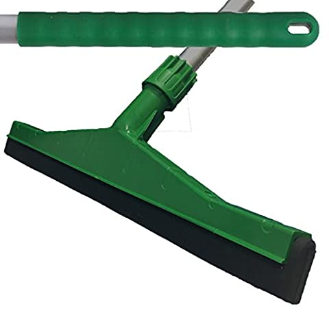 Green Professional Hard Floor Cleaning Squeegee & Strong Alloy Handle