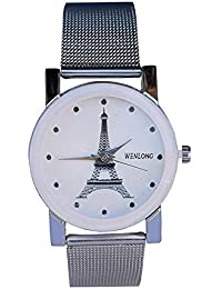 Pass Pass Analogue White Chain White Dial Eiffel Tower Women Watch.