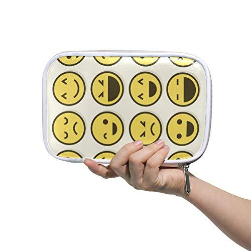mit großer Kapazität für Stifte, niedliche Emoji-Emotionen, Büro, College, Mädchen, Erwachsene, große Aufbewahrung. ()