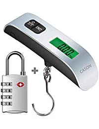 DOCOSS Set Of 2- TSA Approved Metal Password Combination Number Lock For Luggage Bag & 50 Kg Digital Travel Luggage...