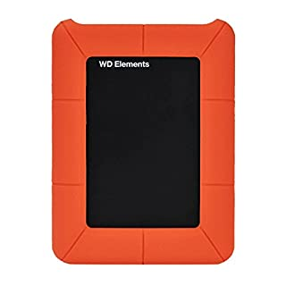 Idealeben 2.5 Inches Hard Drive Silicone Case Protective Enclosure for External Western Essential Digital My Passport, Orange
