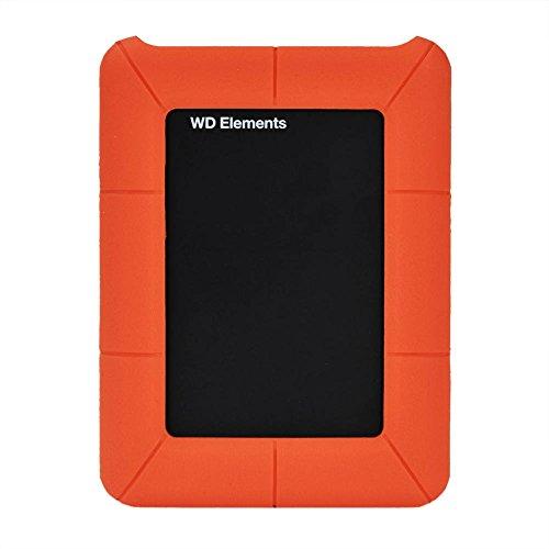 IDEALEBEN 2,5 pollici Hard Drive Enclosure silicone Custodia protettiva per esterni occidentale Essential Digital My Passport, Arancione