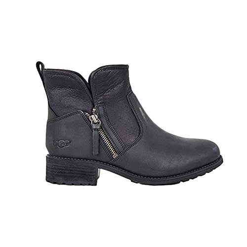 UGG® Lavelle Damen Stiefel Schwarz (Leder-heels Asymmetrische)