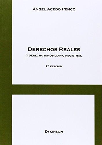 Portada del libro Derechos reales y derecho inmobiliario registral 2 EDICION