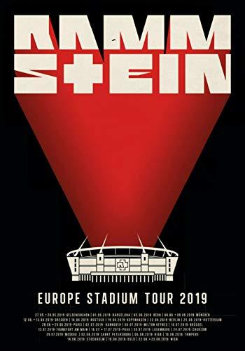 Posterbeatnik Rammstein Poster Europe Stadium Tour 2019 Europa STADIONTOUR -