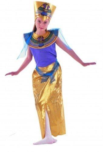 Kinder Mädchen Königin des Nils Kostüm für Ägyptische Königin Cleopatra Kostüm Höhe: 120-130cm (Kinder Kostüme Uk Ägyptische)
