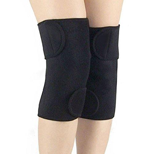 PIXNOR Terapia magnetica termico auto-riscaldante ginocchiera Knee Pad cintura (nero)