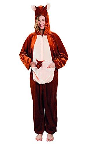 Plüsch Kostüm Känguru - Boland 88024 Erwachsenenkostüm Känguru aus Plüsch, M/L