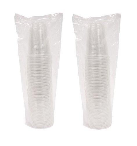 ChefLand 100Zählen Einweg Soft Kunststoff Cups, ML, Transparent (Schuss Einweg-gläser)