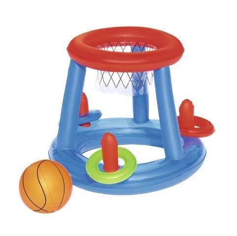 DUNDUNGUOJI Hammocks & Loungers Inflatible Pool -Spiel -Center mit Ball und Ringe für Kinder Schwimmbecken Float Sommer Wasser Spaß Spielzeug Basketball Toss 60cm/Wie in der Abbildung