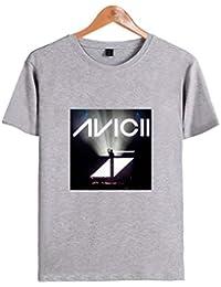SIMYJOY Pareja DJ True Avicii Fans Camiseta EDM Cool Tshirt Hip Pop Top para Hombre Mujer Adolescente