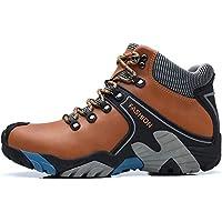 SINOES Hombre Botas de Trekking y Senderismo Impermeables Aire Libre y Deportes Exterior Montaña Zapatos Ejército Verde Gris Marrón