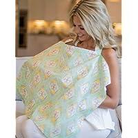 Genuine mammella Covers® (famoso marchio americano) |97% cotone e 3% lycra allattamento al seno per allattamento taglia unica | Stampe | consente Privacy durante l' allattamento o Pumping | grande Baby Shower Regalo