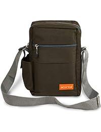 Storite Stylish Nylon Sling Cross Body Travel Office Business Messenger one Side Shoulder Bag for Men Women (25x16x7.5cm)