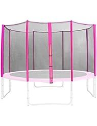 SixBros. Filet de sécurité de rechange rose pour trampoline de jardin 1,85 M - 4,60 M - dimensions différentes - SN-ON/1951 - Taille 4,00 m 4L
