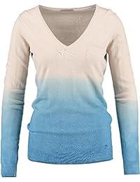 Gas Jersey Baumwolle Beige blau