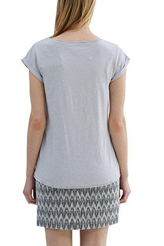 ESPRIT Damen T-Shirt 027ee1k007 Grau (Light Grey 4 043)