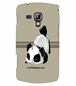 PrintVisa Cute Cartoon Panda Waiting 3D Hard Polycarbonate Designer Back Case Cover for Samsung Galaxy S Duos S7582