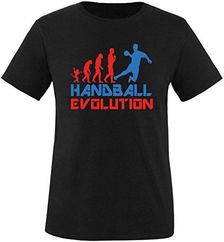 EZYshirt® Handball Evolution Herren Rundhals T-Shirt Schwarz/Rot/Blau
