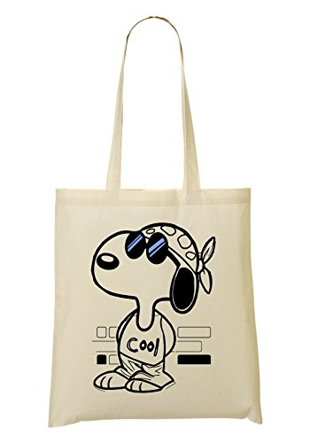 LukeTee Snoopy Joe Cool Blue Sunglasses Tragetasche Einkaufstasche