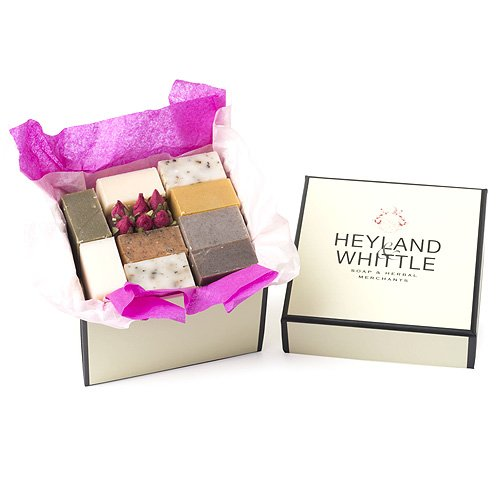 Heyland and Whittle Small Gift Box with 10 Guest Size Natural Soaps
