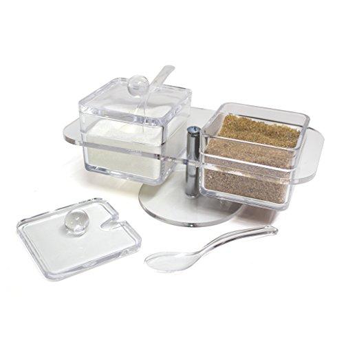 balviDoppel-ZuckerdoseFarbetransparentAuszweiteiligemBehälterAusAcryl