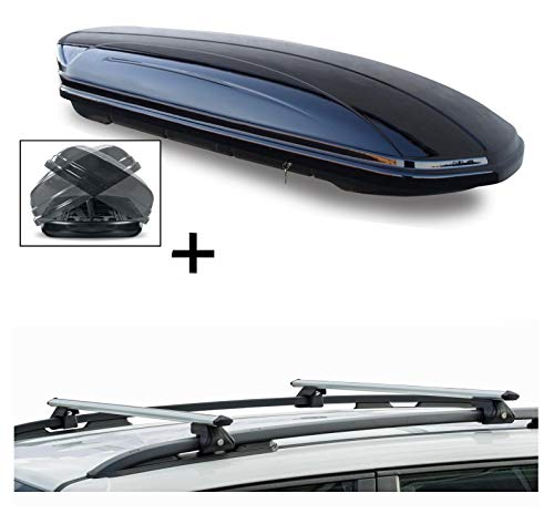 Skibox MAA580D Double Face avec Support en Aluminium VDPCRV120 Opel Agila 00-08