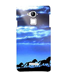 printtech Nature Animal Horse Back Case Cover for Coolpad Note 3 Lite