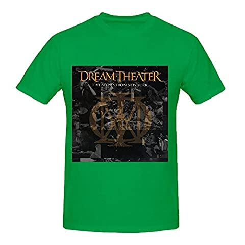 HuenK Evanos(TM) Dream Theater Live Scenes From New York Funny Tee Shirts for Homme's Crew Neck?XXX-Large?