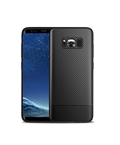 Mobiusphy Samsung Galaxy S8 Plus Hülle, Samsung Galaxy S8 Plus Handyhülle Case Schwarz Weiche Silikon TPU Hülle Kratzfest Schutzhülle für Samsung Galaxy S8 Plus