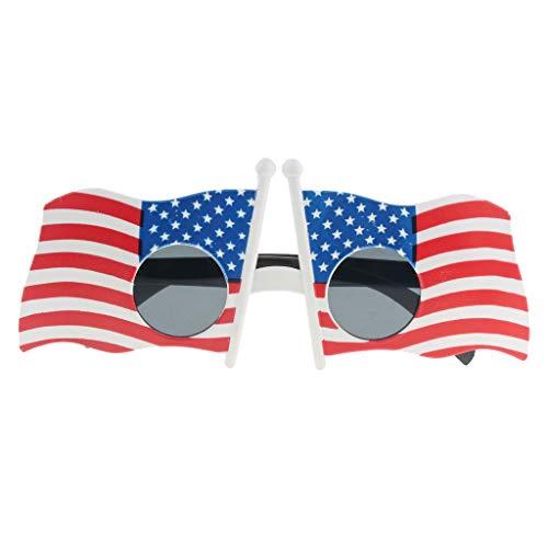 P PRETTYIA Erwachsene Kinder Partybrille Spassbrille Karnevalsbrille Halloween Kostüm Requisiten - USA Flagge